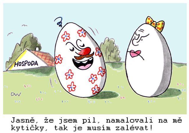 Kreslené vtipy pan vejce